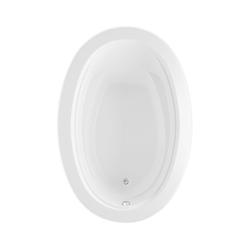 Aquatic 826541965710 Belmont I Element 3960620V-WH Builders' Choice Bathtub, Soaking, Oval, 59 in L x 40 in W, Universal Drain, White