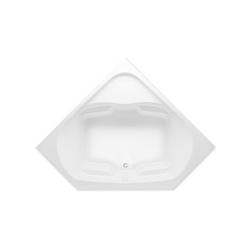 Aquatic 826541965789 Cavalcade Element 3860620V-WH Builders' Choice Bathtub, Soaking, 60 in L x 60 in W, Front Center Drain, White