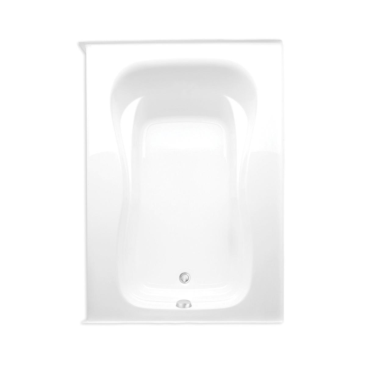 Aquatic 826541989327 Marratta Element 7260420VL-WH Builders' Choice Bathtub, Soaking, 60 in L x 43 in W, Left Hand Drain, White