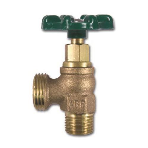 Arrowhead 221LF Heavy-Duty Boiler Drain, 1/2 x 3/4 in, MNPT x Hose, 125 psi, 8 to 9 gpm