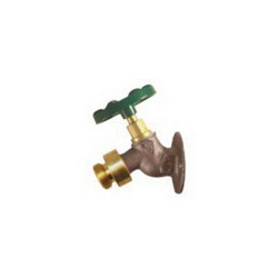 Arrowhead 255BFPLF Heavy Duty Anti-Siphon Solid Flange Sillcock With Back-Flow Preventing Vacuum Breaker, 1/2 x 3/4 in, FNPT x Hose, Red Brass Body, T-Handle Actuator