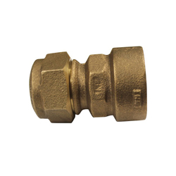 McDonald® 5182-063 74754Q Straight Adapter, 1 in, Q CTS Compression x FNPT, Brass