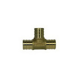 McDonald® 5423-013 72330 Tee, 1 in, PEX, Brass