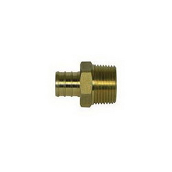 McDonald® 5423-021 72300M Male Adapter, 1/2 in, PEX x MNPT, Brass