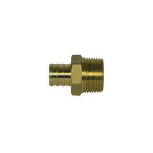 McDonald® 5423-081 72300M Male Adapter, 1 x 3/4 in, PEX x MNPT, Brass