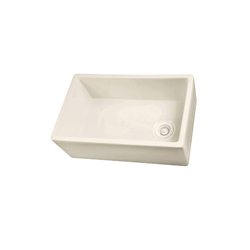 Barclay FS30 Farmer Sink Without Overflow, 29-3/4 in W x 17-7/8 in D x 10 in H, Fireclay, White