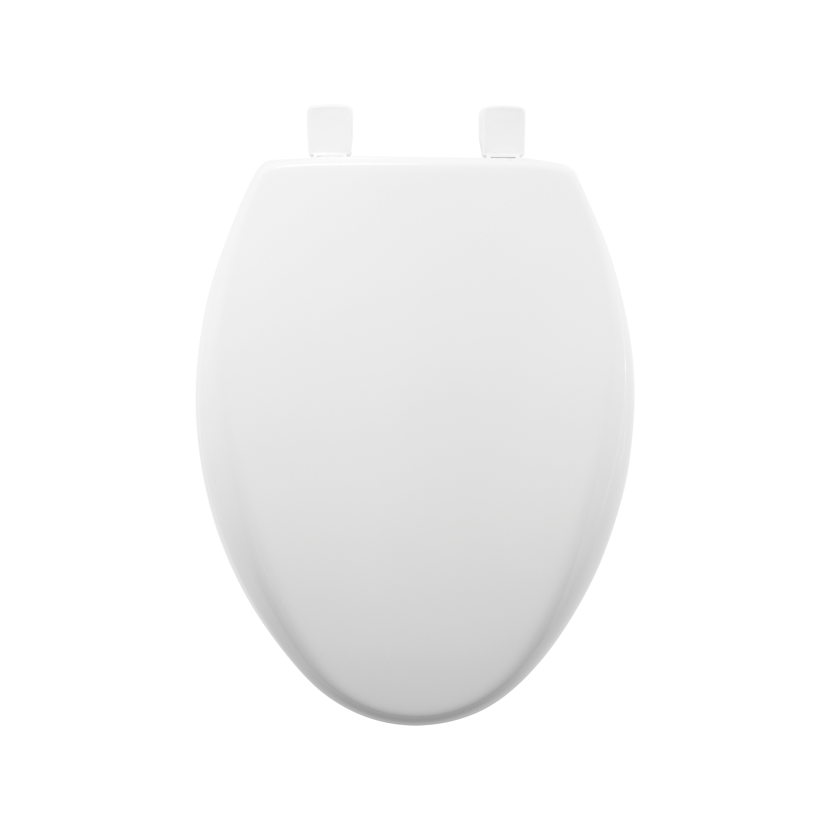 Bemis® AFFINITY™ 1200E3 000 Toilet Seat With Cover, Elongated Bowl, Closed Front, Plastic, White, Easy Clean/Change® Adjustable Hinge, Domestic