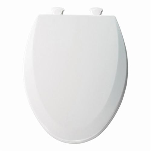Bemis® 1500EC-000 Elongated Toilet Seat, Closed Front, Molded Wood, White, Quick Twist-To-Lock Hinge, Domestic