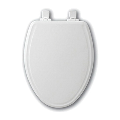Bemis® 1600E3 000 Toilet Seat With Cover, Elongated Bowl, Closed Front, Molded Wood, White, Easy Clean/Change® Hinge, Domestic
