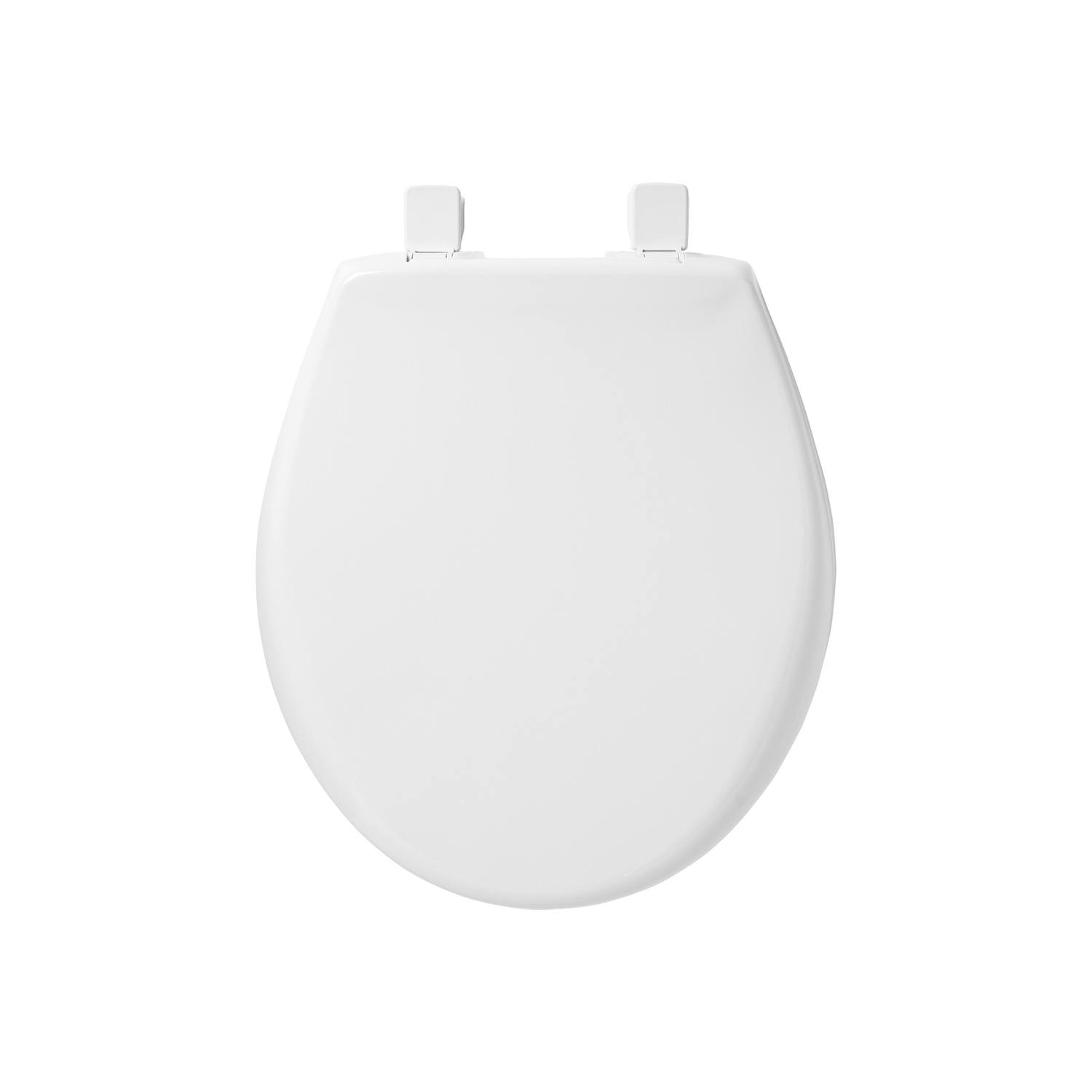 Bemis® AFFINITY™ 200E3 000 Toilet Seat With Cover, Round Bowl, Closed Front, Plastic, Easy Clean/Change® Adjustable Hinge, White, Domestic