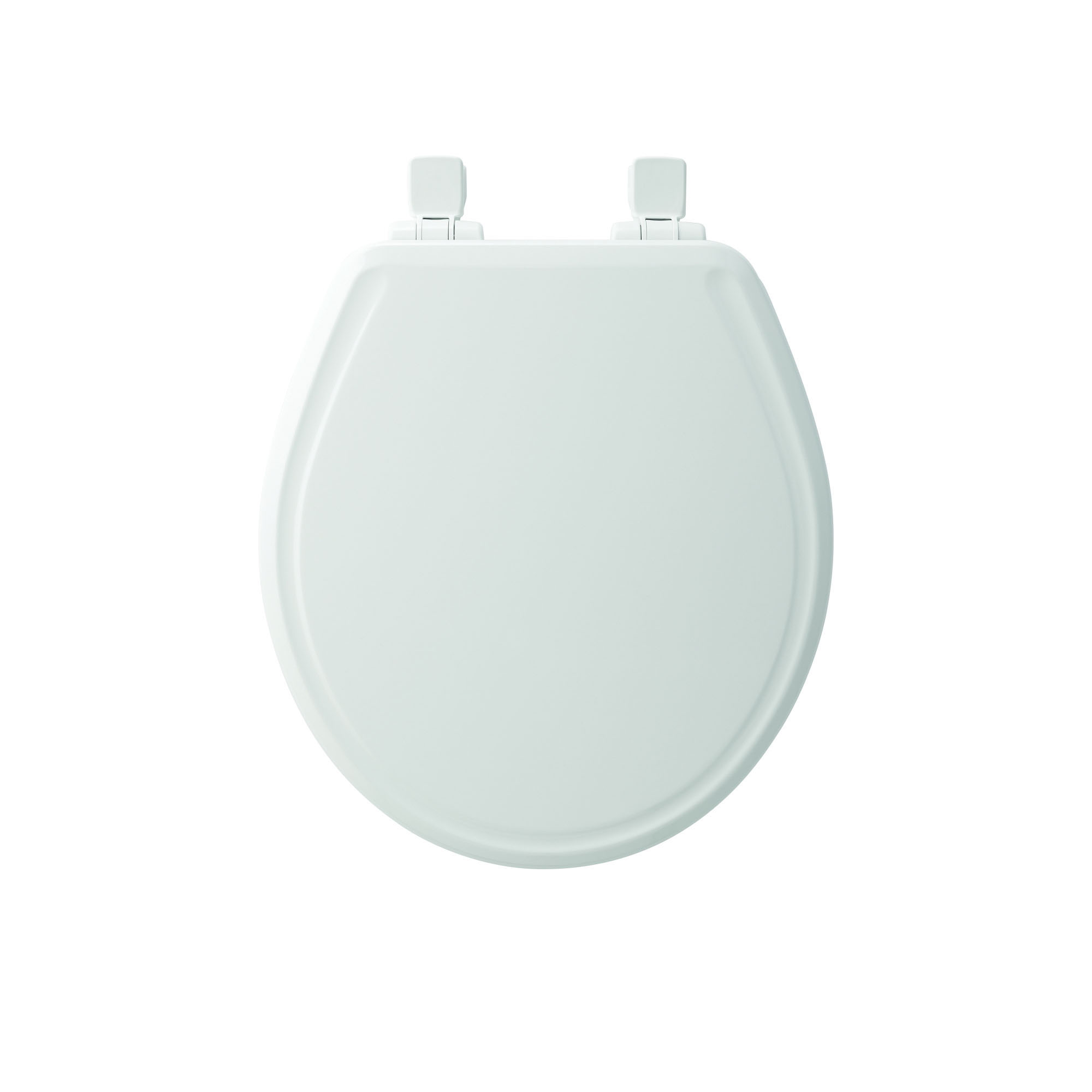 Bemis® 600E3 000 Toilet Seat With Cover, Round Bowl, Closed Front, Molded Wood, Easy Clean/Change® Hinge, White, Domestic