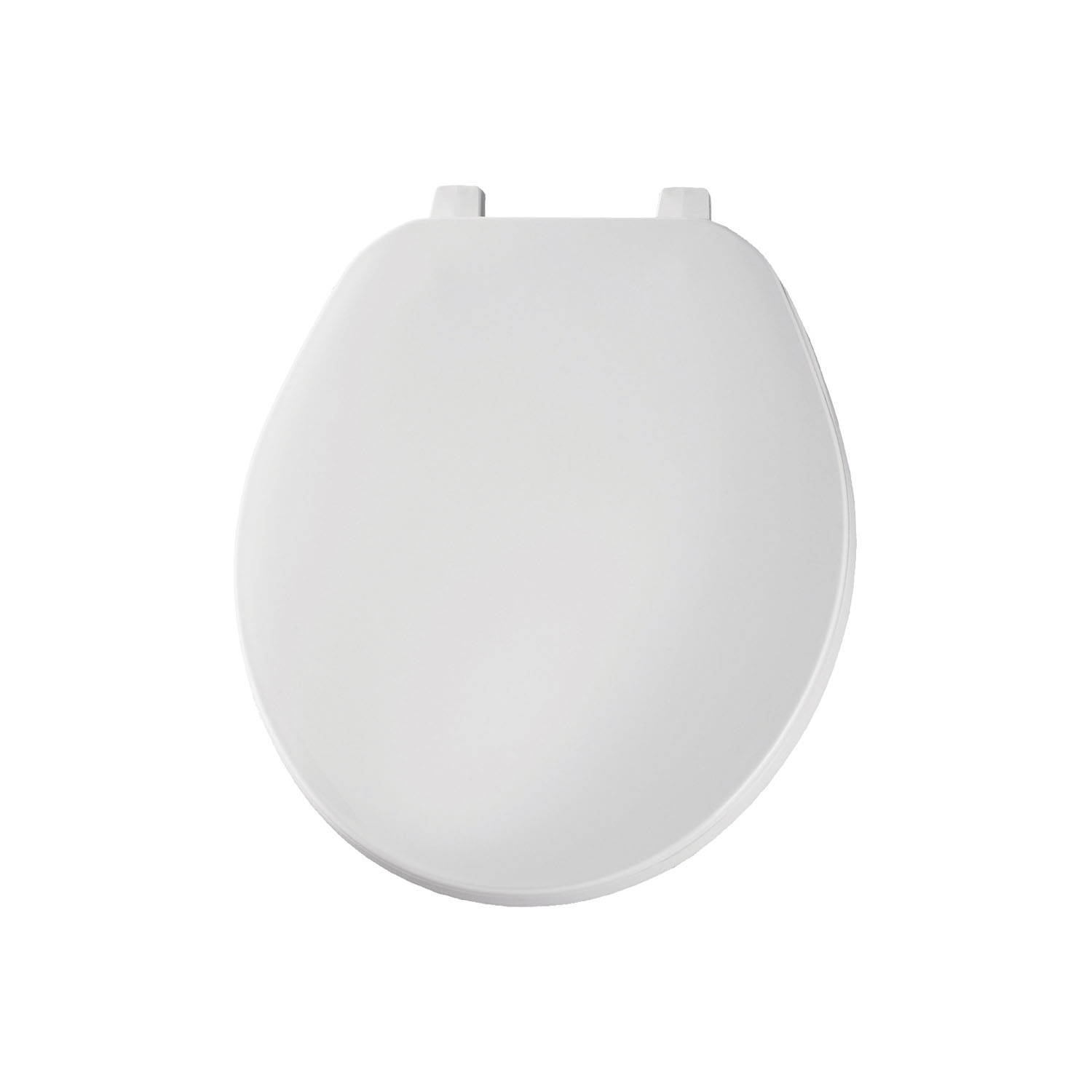 Bemis® 70 000 Toilet Seat With Cover, Round Bowl, Closed Front, Plastic, Top-Tite® Hinge, White, Domestic