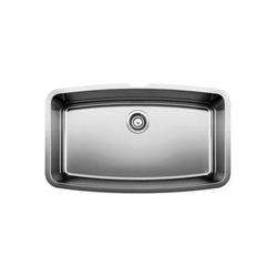 Blanco 440104 PERFORMA™ SILGRANIT® II Kitchen Sink, Rectangular, 32 in W x 19 in D, Under Mount, 304 Stainless Steel, Polished Satin, Import