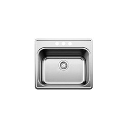 Blanco 441400 Essential™ Laundry Sink, Rectangular, 25 in W x 22 in D, Drop-In Mount, 304 Stainless Steel, Satin