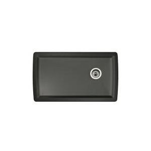 Blanco 441768 DIAMOND™ SILGRANIT® II Kitchen Sink, Rectangular, 33-1/2 in W x 18-1/2 in D, Under Mount, Solid Granite, Anthracite