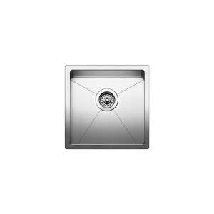 Blanco 519545 Quatrus™ SILGRANIT® Bar Sink, Square, 17 in W x 17 in D, Under Mount, 304 Stainless Steel, Satin
