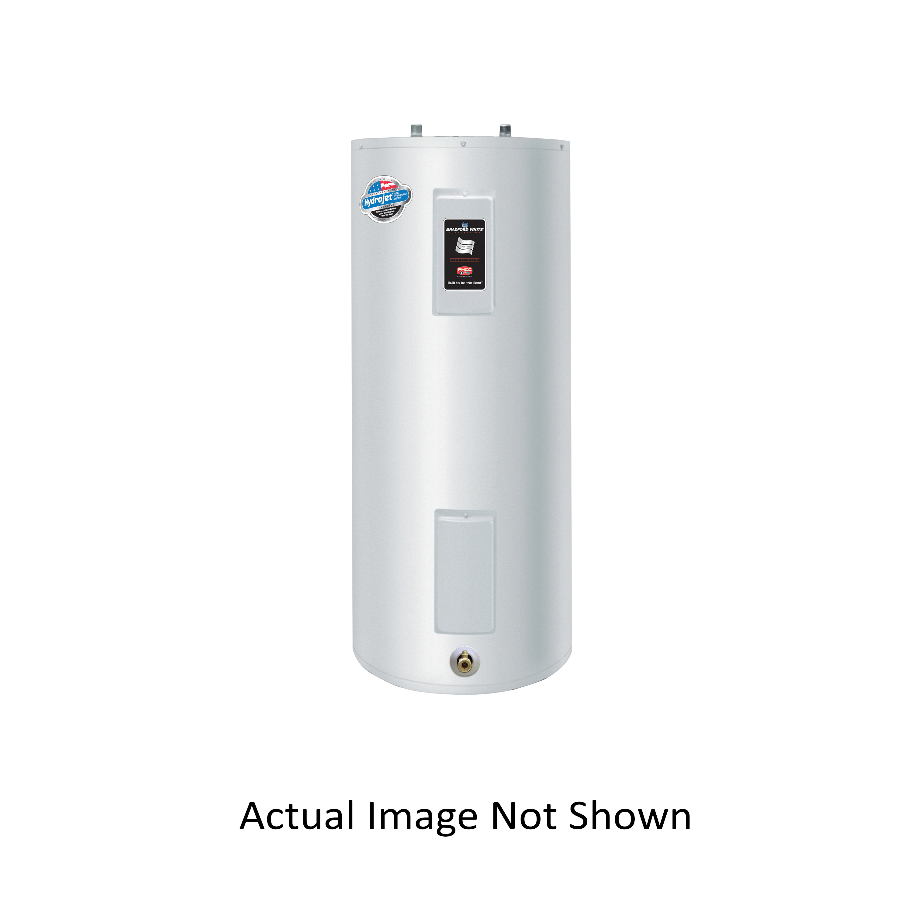 Bradford White® RE240S6-1NCWW Upright Electric Water Heater, 40 gal Tank, 208/240 VAC, 3500 W at 208 VAC/4500 W at 240 VAC, 1 ph, Tall or Short: Short, Domestic