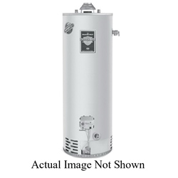 Bradford White® Defender Safety System® RG250L6N Gas Water Heater, 40000 Btu/hr Heating, 48 gal Tank, Natural Gas Fuel, Atmospheric Vent, 43 gph at 90 deg F Recovery, Ultra Low NOx: No, Domestic