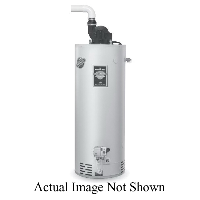 Bradford White® Defender Safety System® RG2PV50H6N TTW® Gas Water Heater, 65000 Btu/hr Heating, 48 gal Tank, Natural Gas Fuel, Power Vent, 70 gph at 90 deg F Recovery, Ultra Low NOx: No, Domestic
