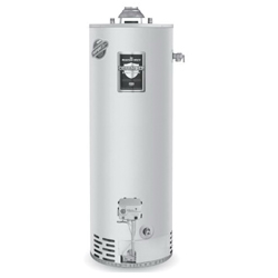 Bradford White® RG240T6N Gas Water Heater, 40000 Btu/hr Heating, 40 gal Tank, Natural Gas Fuel, Atmospheric Vent, 43 gph at 90 deg F Recovery, Ultra Low NOx: No