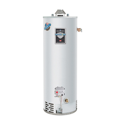 Bradford White® Defender Safety System® RG240T6N-475 Hi-Alt Gas Water Heater, 40000 Btu/hr Heating, 40 gal Tank, Natural Gas Fuel, Atmospheric Vent, 43 gph at 90 deg F Recovery, Ultra Low NOx: No, Domestic