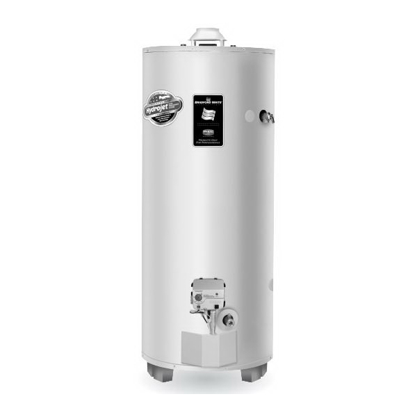 Bradford White® RG275H6N High Input Gas Water Heater, 76000 Btu/hr Heating, 75 gal Tank, Natural Gas Fuel, Atmospheric Vent, 82 gph at 90 deg F Recovery, Ultra Low NOx: No