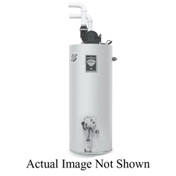 Bradford White® Defender Safety System® RG2PDV50H6N Gas Water Heater, 60000 Btu/hr Heating, 48 gal Tank, Natural Gas Fuel, Power Direct Vent, 65 gph at 90 deg F Recovery, Ultra Low NOx: No, Domestic