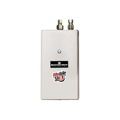 Bradford White® KwickShot® EFC-8300-2-S-10 Flow Controlled Electric Tankless Water Heater, 208 VAC, 8300 W, 1 ph, 100 to 140 deg F, 1/2 in Compression Water