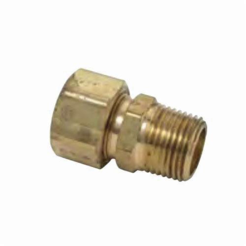 BrassCraft® 68-6-6X Pipe Adapter, 3/8 in, Compression x MNPT, Brass, Rough Brass
