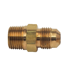 BrassCraft® 48-6-6 48 Series 45 deg Tube to Pipe Adapter, 3/8 in, Flare x MNPT, Brass, Domestic