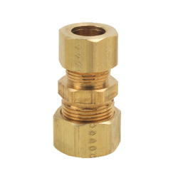 BrassCraft® 62 Lead Free Pipe Reducer Union, 5/8 x 1/2 in, Compression, Brass, Rough Brass