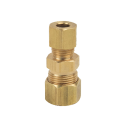 BrassCraft® 62-6-4X Pipe Reducer Union, 3/8 x 1/4 in, Compression, Brass, Rough Brass