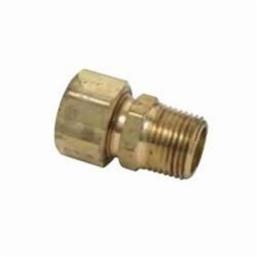 BrassCraft® 68-10-6X Tube Reducing Adapter, 5/8 x 3/8 in, Compression x MNPT, Brass, Domestic