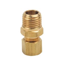 BrassCraft® 68-4-4X Pipe Adapter, 1/4 in, Compression x MNPT, Brass, Rough Brass