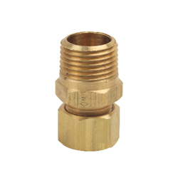BrassCraft® 68-8-8X Pipe Adapter, 1/2 in, Compression x MNPT, Brass, Rough Brass