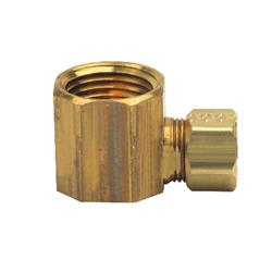 BrassCraft® 70-6-8X Female Reducing Elbow, 3/8 x 1/2 in, Compression x FNPT, Copper