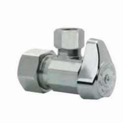 BrassCraft® G2CR19X C G2™ 1/4 Turn Angle Stop, 1/2 x 3/8 in, Compression, 125 psi, Brass Body, Domestic