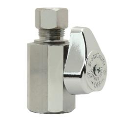 BrassCraft® G2R12X C G2™ 1/4 Turn Straight Stop, 1/2 x 3/8 in, FNPT x Compression, 125 psi, Brass Body, Domestic