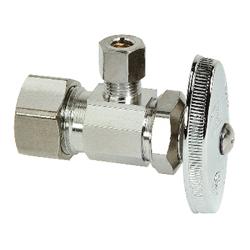BrassCraft® OCR09X C OCR1BX Multi-Turn Angle Stop, 1/2 x 1/4 in, Compression, 125 psi, Brass Body, Domestic