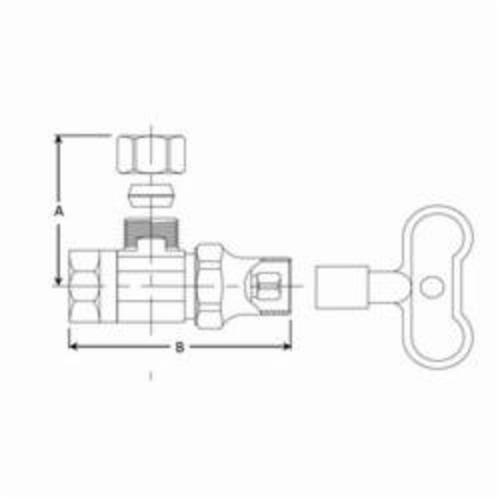 Dia Brass  Shut-Off Valve  125 psi Dia Brasscraft  1//2 in x 3//8 in