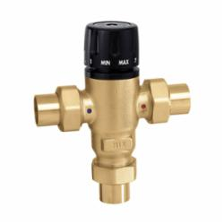 Caleffi MixCal™ 521509A Adjustable 3-Way Thermostatic and Pressure Balanced Mixing Valve, 3/4 in, C, 200 psi, 1.3 gpm, Brass Body