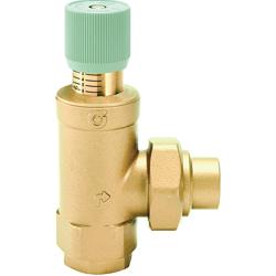 Caleffi 519600A By-Pass Differential Pressure Valve, 1 in, FNPT x MNPT, 150 psi, 40 gpm, Brass