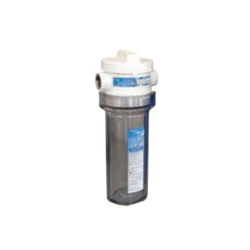 NOVO™ Aqua Flo™ 26065 Cartridge Filter Housing With Clear Sump and Bypass, 4 gpm, 5 in Dia x 13-1/2 in H, 3/4 in NPT Port, 35 to 100 deg F