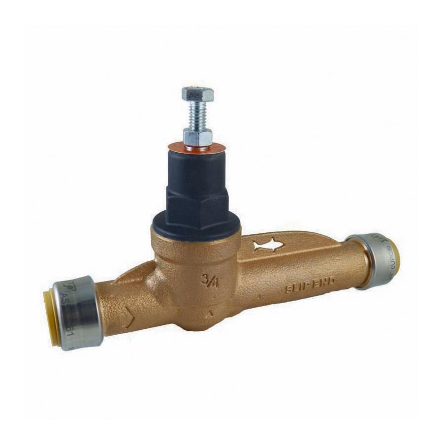 Sharkbite® 22675-0045 EB45 Pressure Regulating Valve With Slip, 1 in, Push-Fit, 45 psi, Bronze Body, Domestic
