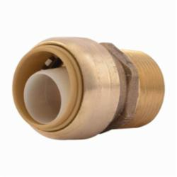 Sharkbite® U134LF Straight Male Connector, 3/4 in, Push-Fit x MNPT, Brass, Natural Brass/Chrome Plated, Import