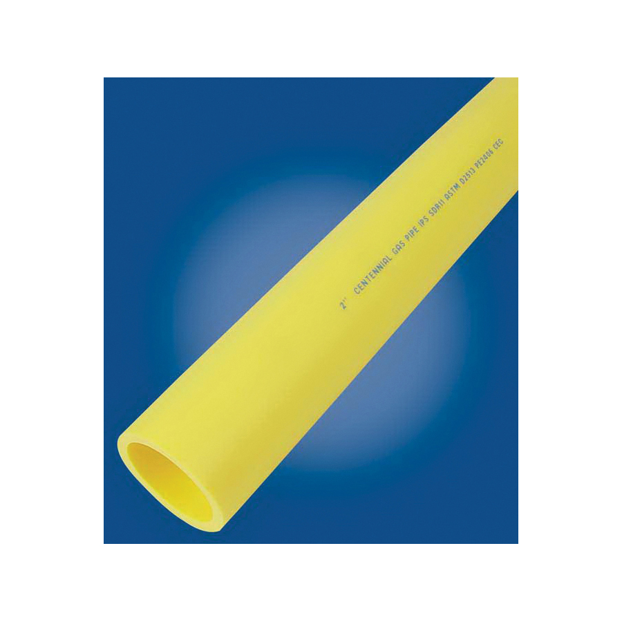 """2""""X250' SDR11 MDPE YELLOW POLY GAS PIPE (SOLD BY THE FOOT)"""