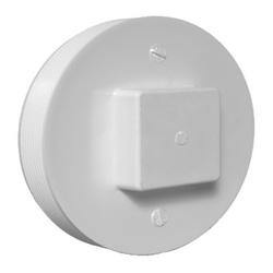 Charlotte PVC 00106 1600 Square Head DWV Cleanout Plug, 8 in, MNPT, SCH 40/STD, PVC, Domestic