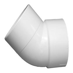 Charlotte PVC 00323 1800 DWV Street 1/8 Bend, 8 in, Spigot x Hub, SCH 40/STD, PVC, Domestic