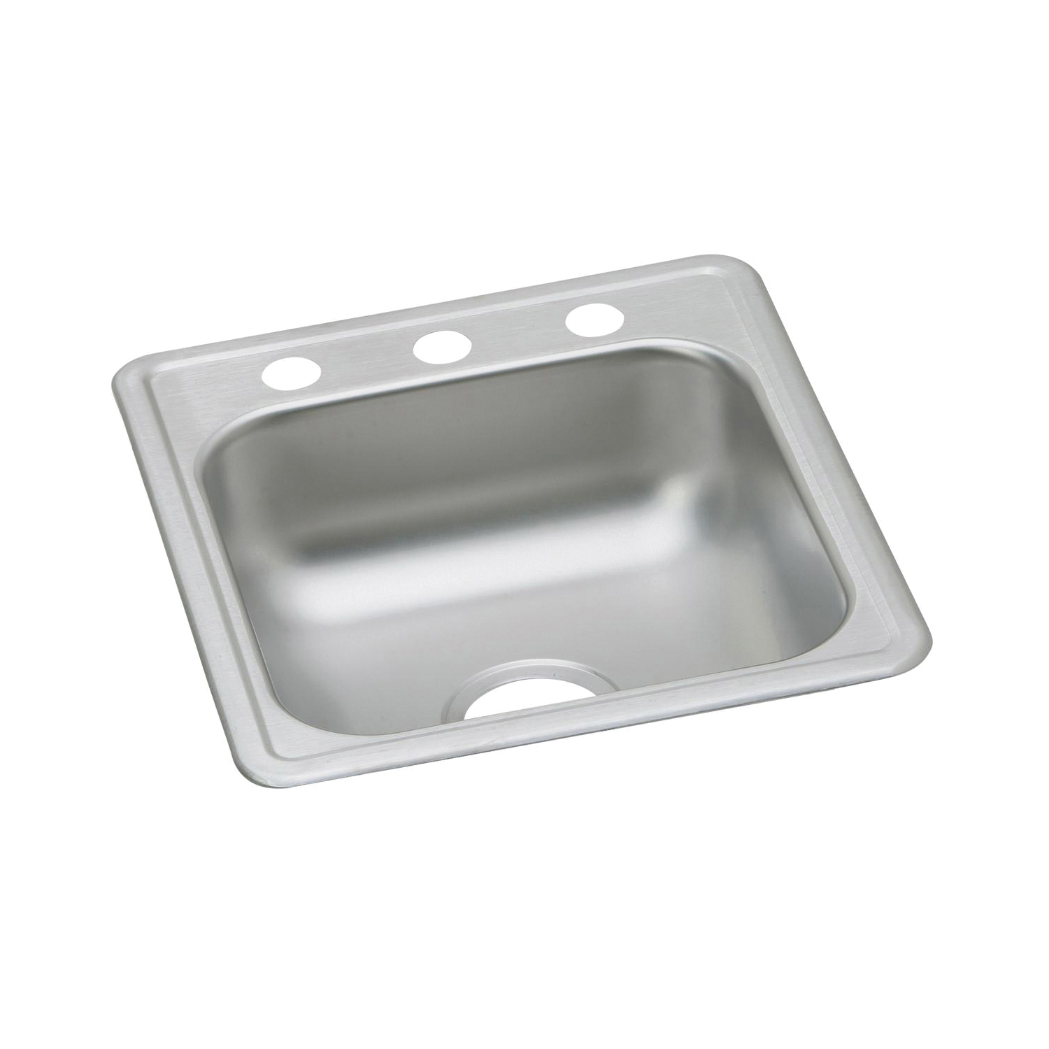 Elkay® D117193 Dayton® Bar Sink, Rectangular, 3 Faucet Holes, 19 in W x 6-3/16 in D x 17 in H, Top Mount, Stainless Steel, Satin, Domestic