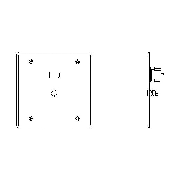 DELTA® Teck® 1600T9001TR Trim Only, For Use With 1600T Series Hardwire Operated Electronic Concealed Flush Valve, Brass, Stainless Steel, Import